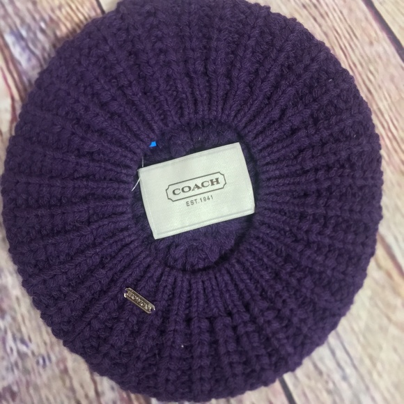 59801039b74e8 Coach Accessories - Coach Purple Beret